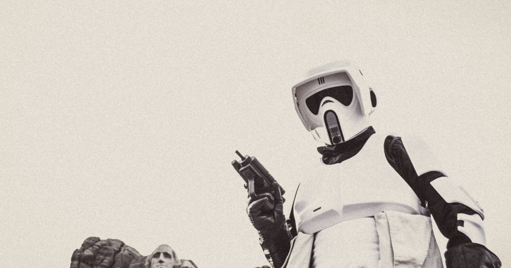 Scout Trooper Visits Mt. Rushmore
