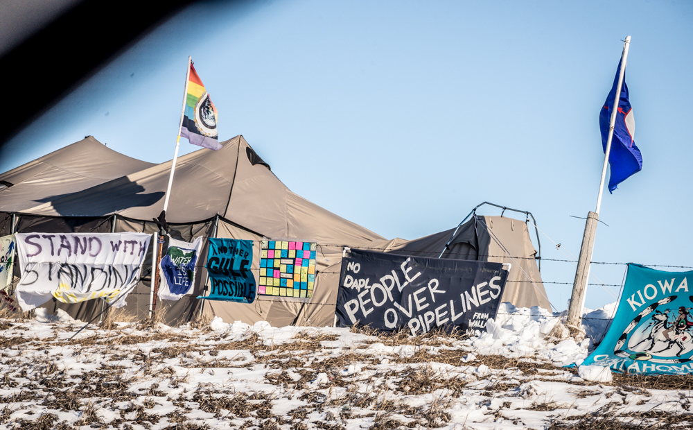 Water Protector's signs