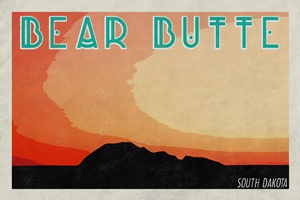 Bear Butte Poster (Design 3)