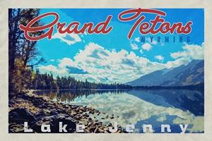 Grand Tetons Poster (Design 4)